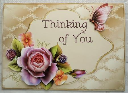 Thinking of You English Rose Card Front - CUP406403_174 ...