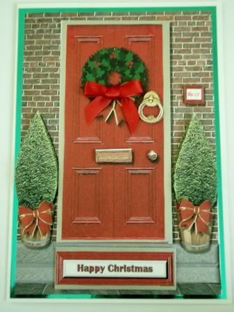Christmas Front Door 3d Decoupage Cup355828 15
