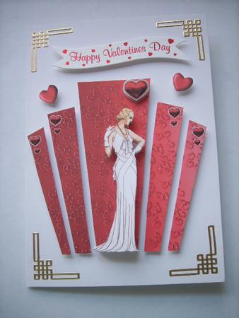 Valentine Art Deco Panels With Lady Cup173822 617