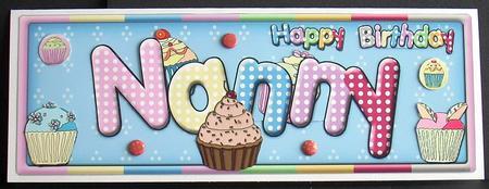 Happy Birthday Nanny - CUP415142_1056   Craftsuprint
