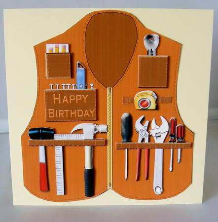 Handyman Vest Shaped Card Kit Cup543971 2038 Craftsuprint