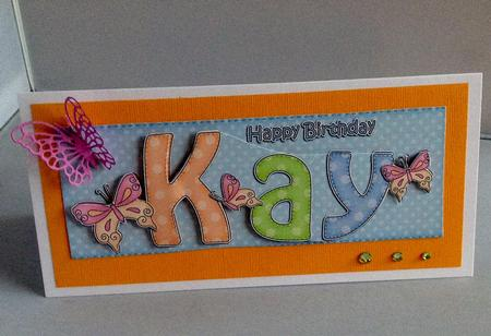 Large Dl Happy Birthday Kay Quick Card Amp 3d Decoupage