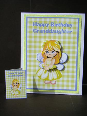 Granddaughter Birthday Card Gift Tag