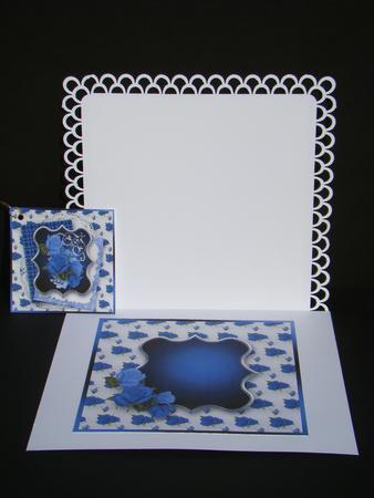 Blue Roses 7 Quot X 7 Quot Card Insert Cup536324 1648 Craftsuprint