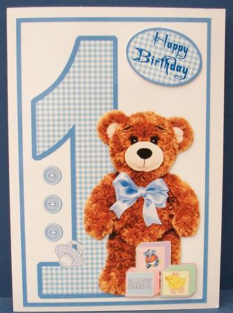 Birthday Bear Boy 1 Year Old Photo By Cheryl French