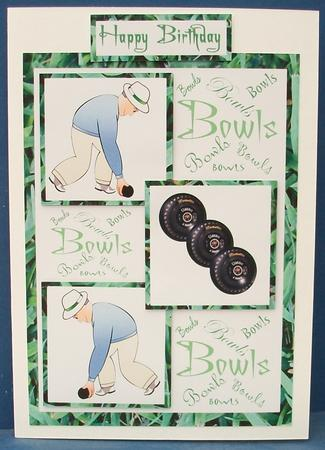 Three Squares Lawn Bowls Male Birthday Cup315747173