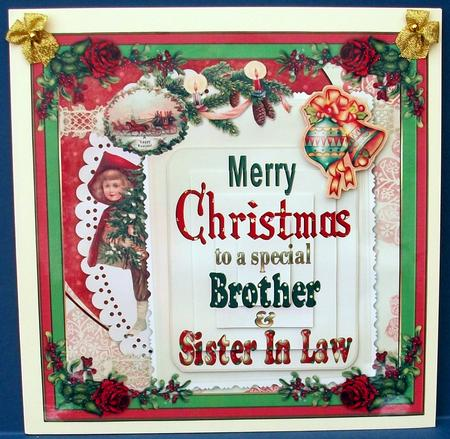 Merry Christmas Brother & Sister in Law Mini Kit - Photo ...