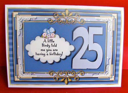 25th Birthday Card Topper Photo By Christine Pagan