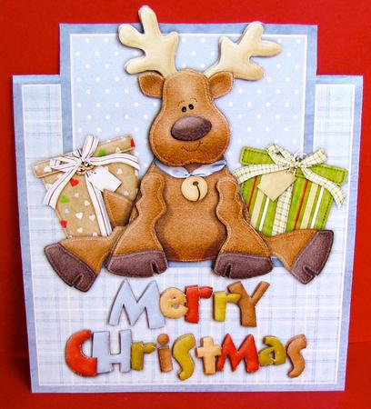 Merry Christmas Reindeer - Over the Edge Card - Photo by Christine ...