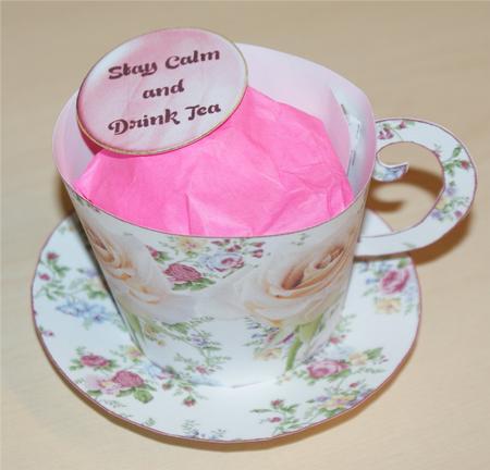 Teacup Template Novalty Gift Goodie Treat Box Bag - CUP326728_1509 ...