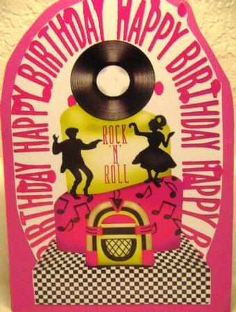 Awesome Rock N Roll Birthday Cake In Pink Photo By Darlene Handorff Personalised Birthday Cards Vishlily Jamesorg