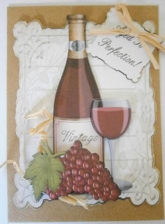 Aged To Perfection Male Birthday Card Topper Cup3681391519