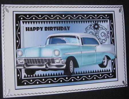Car Happy Birthday Craftsuprint