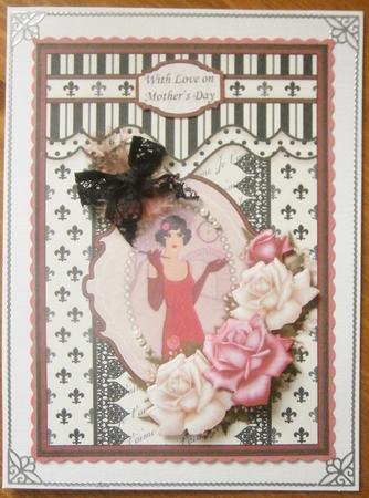 Flapper Girl Amp Roses Art Deco Topper Amp Decoupage