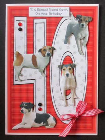 Jack Russell Terrier 40th Birthday Card Cup21405315 Craftsuprint
