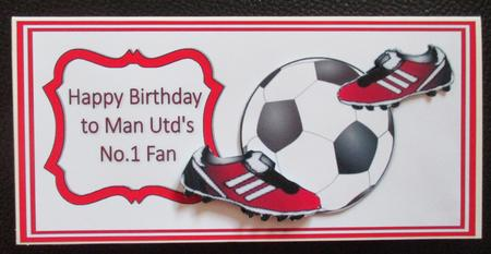 Manchester United Football Dl Card CUP6496571495 – Man Utd Birthday Card
