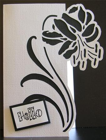 Cricut Design Space Cut Flowers Into Edge Of Card Front