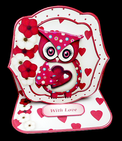 Valentine Owl Shaped Easel Card Mini Kit Cup663813