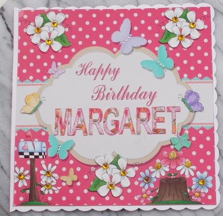 Happy Birthday Margaret Topper Cup616909 719 Craftsuprint