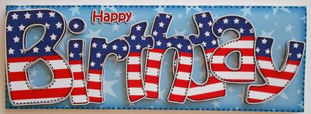 Usa Flag Birthday Large Dl Quick Card 3D Decoupage CUP413514359 – Birthday Cards Usa