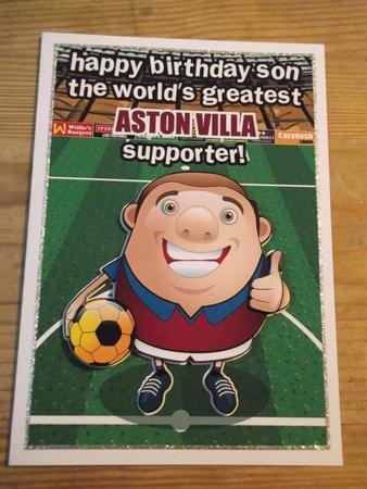 aston villa football club happy birthday son cup craftsuprint