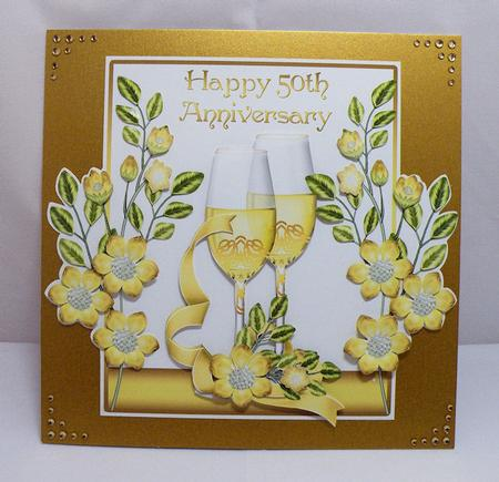 50th Wedding Anniversary Card Front CUP3134031446 Craftsuprint