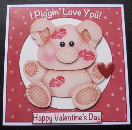 Piggin Love You Cute Valentinesanniversary Card – Pig Valentine Cards