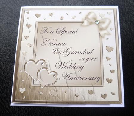 Nanna & Grandad Wedding Anniversary Wavy Corner - Photo by Charlies ...