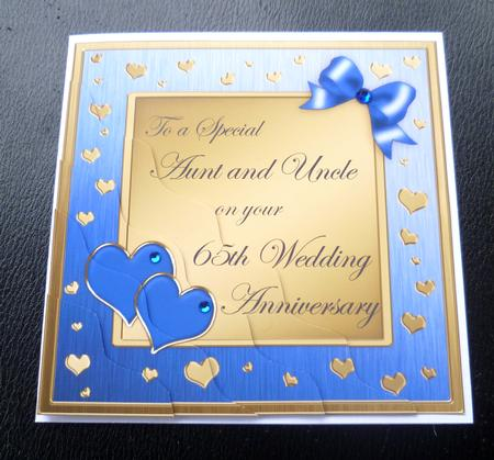 Aunt Uncle 65th Wedding Anniversary Side StackerCompleted By Charlies Angel