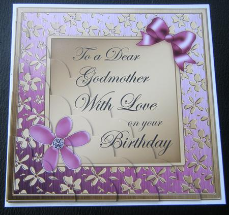 Floral Godmother Birthday Scallop Corner Side Stacker