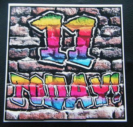 Graffiti 11th Birthday Wavy Corner Side Stacker Topper