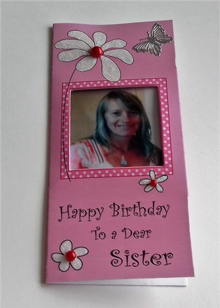 Add A Photo Daisy Birthday Sister With Easy Fold Frame
