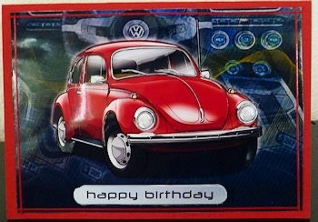 Happy Birthday Brother Volkswagen Beetle Classic Red - CUP255138_971 | Craftsuprint