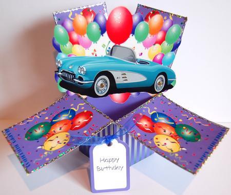 Corvette Birthday 3d Spring Popup Card Kit Cup231628 866