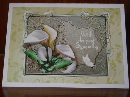 White Lilies Sympathy Cup600919 173 Craftsuprint