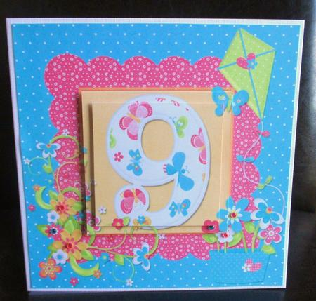 Hello sunshine girl 39 s age 9 pyramid card photo by for Crafts for girls age 9