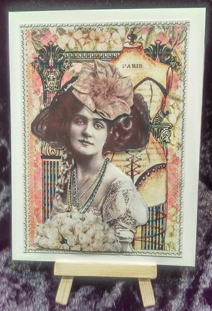 Lovely Vintage Paris Lady 4 Cup594817 2073 Craftsuprint