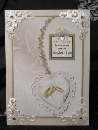 Ring Pillow Wedding Card Cup62505 543 Craftsuprint
