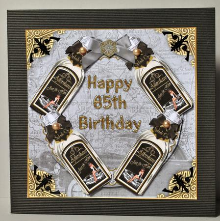Mens Aftershave 65th Birthday Decoupage 3d Ring Sheet