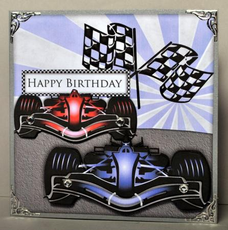 Formula 1 Decoupage Card Cup319832 65 Craftsuprint