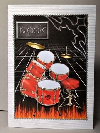 rock red drums card front cup331782376 craftsuprint