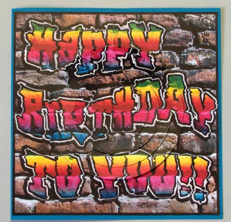 Graffiti Birthday Circle Pyramage Topper Photo By Lynda Jones