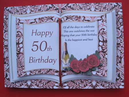Sensational Book Card 50Th Birthday Cup173569 545 Craftsuprint Personalised Birthday Cards Xaembasilily Jamesorg