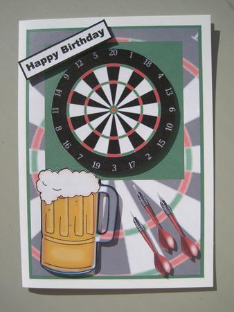 Darts And A Pint Topper Cup224076 613 Craftsuprint