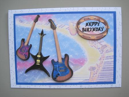 Guitar Ace Music Lover Birthday Card Photo By Margaret Bleazard
