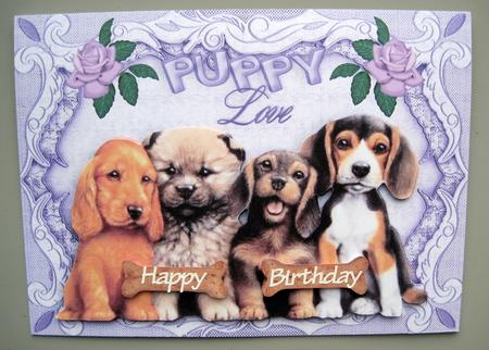 Cute Puppies With Puppy Love In A Frame Cup304433 415