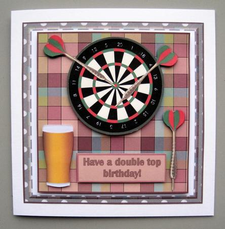 A Game Of Darts Decoupage Card Front Cup312092 719