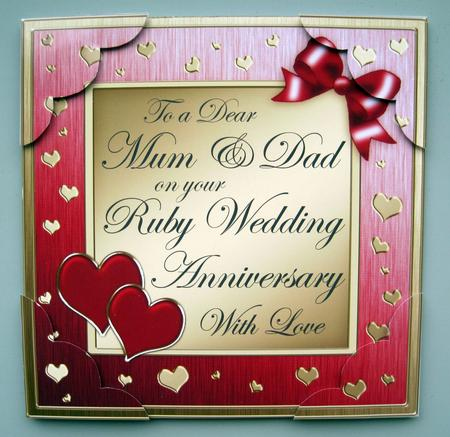 8 x 8 mum and dad ruby wedding anniversary topper cup330440359 photographs from the community m4hsunfo