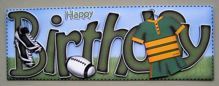 Birthday Rugby Large Dl Sports Quick Card N 3D Decoupage – Rugby Birthday Cards