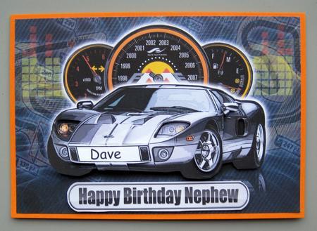 Happy Birthday Nephew Ford Sports Car Craftsuprint